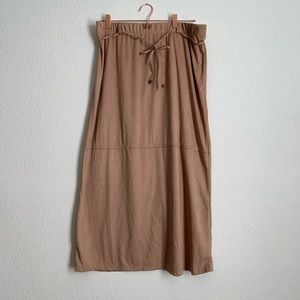 Tan Suede Maxi Skirt Size 16/18